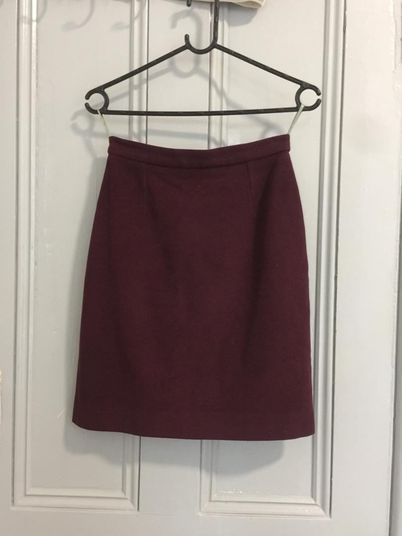 JIGSAW wool A-line skirt
