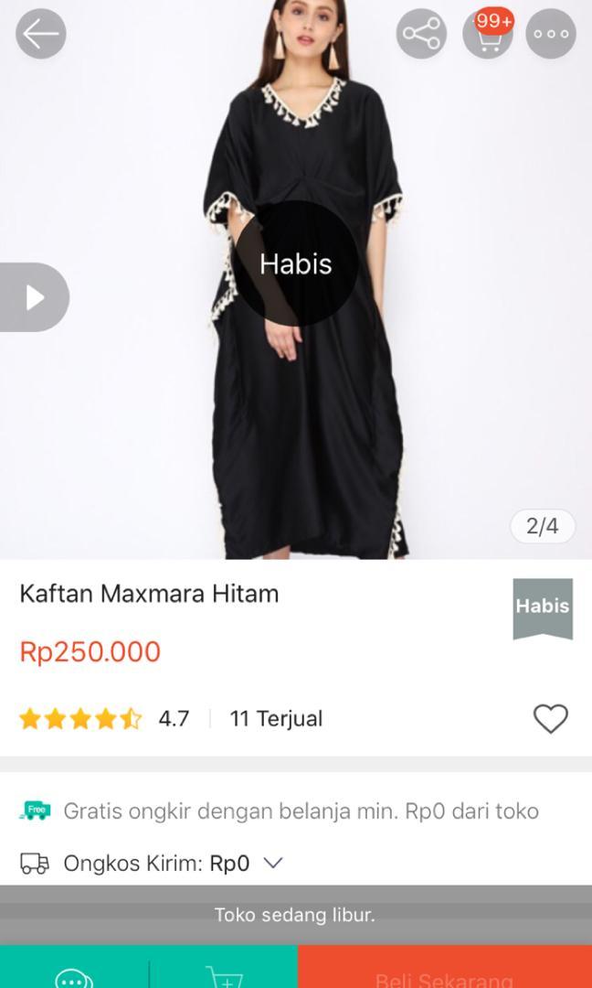 KAFTAN MAXMARA HITAM (NEW)