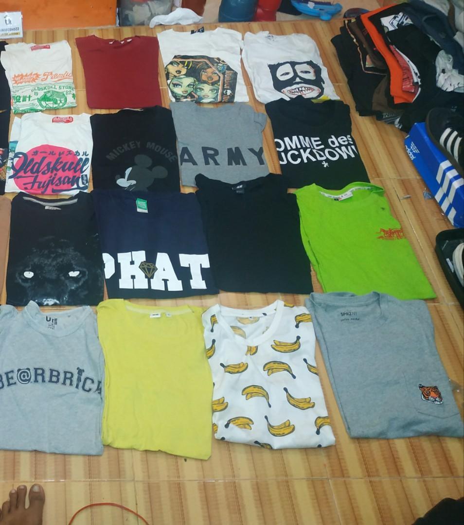 Kaos second brande uniqlo paul prank paul and bear