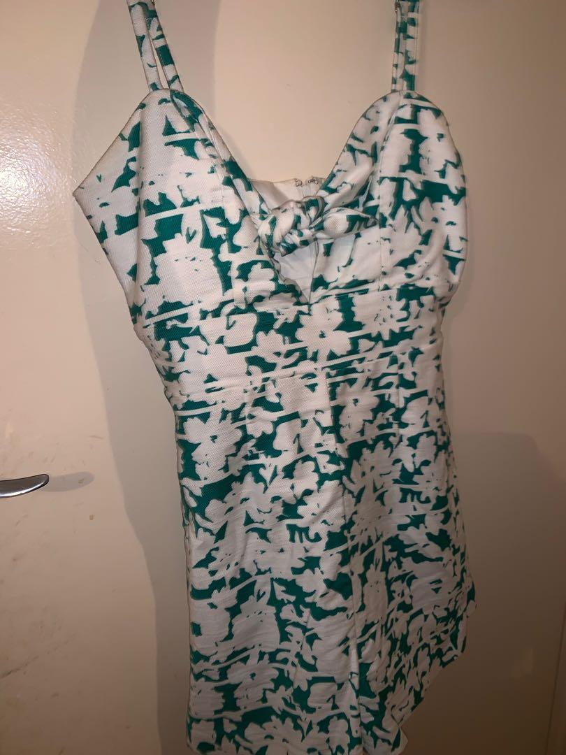 Kookai white green play suit