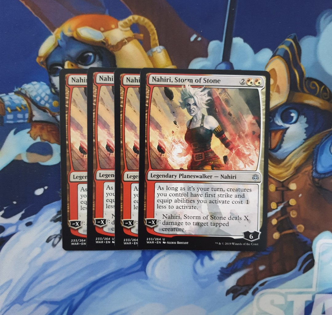 Magic The Gathering Nahiri Storm Of Stone Card Toys Games Board Games Cards On Carousell
