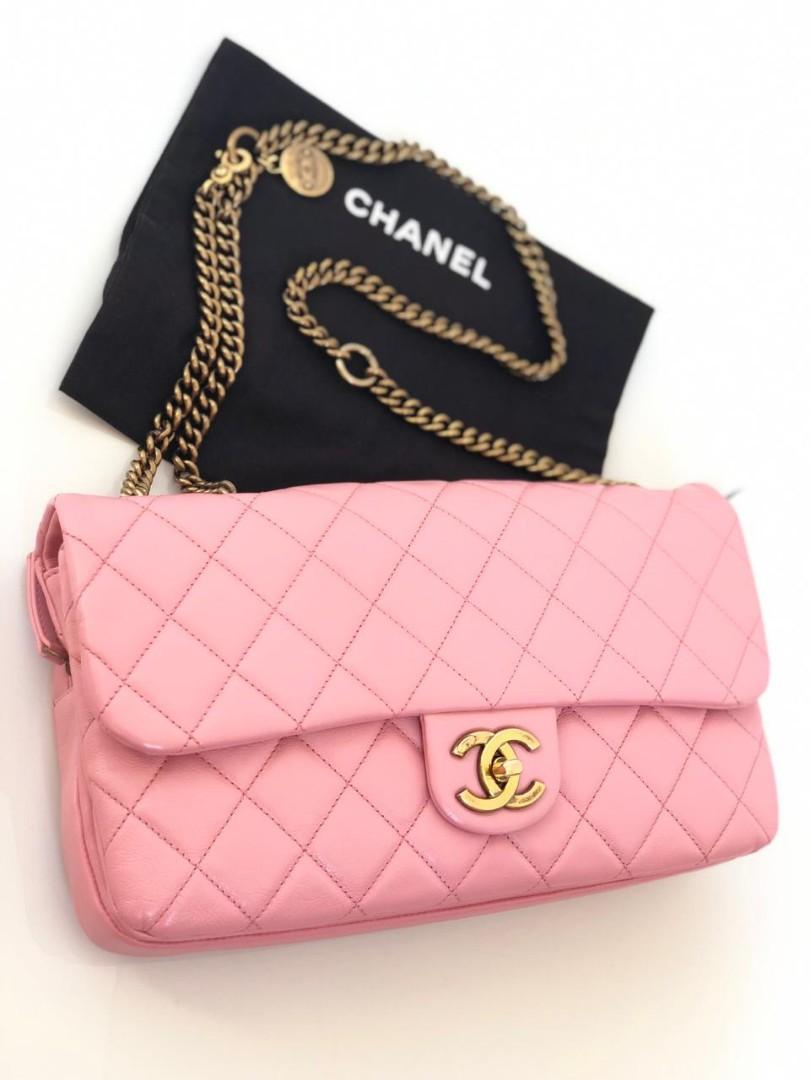 #mauthr Chanel Flap Pink GHW Compartment #18 with Holo&DB (29x15cm)