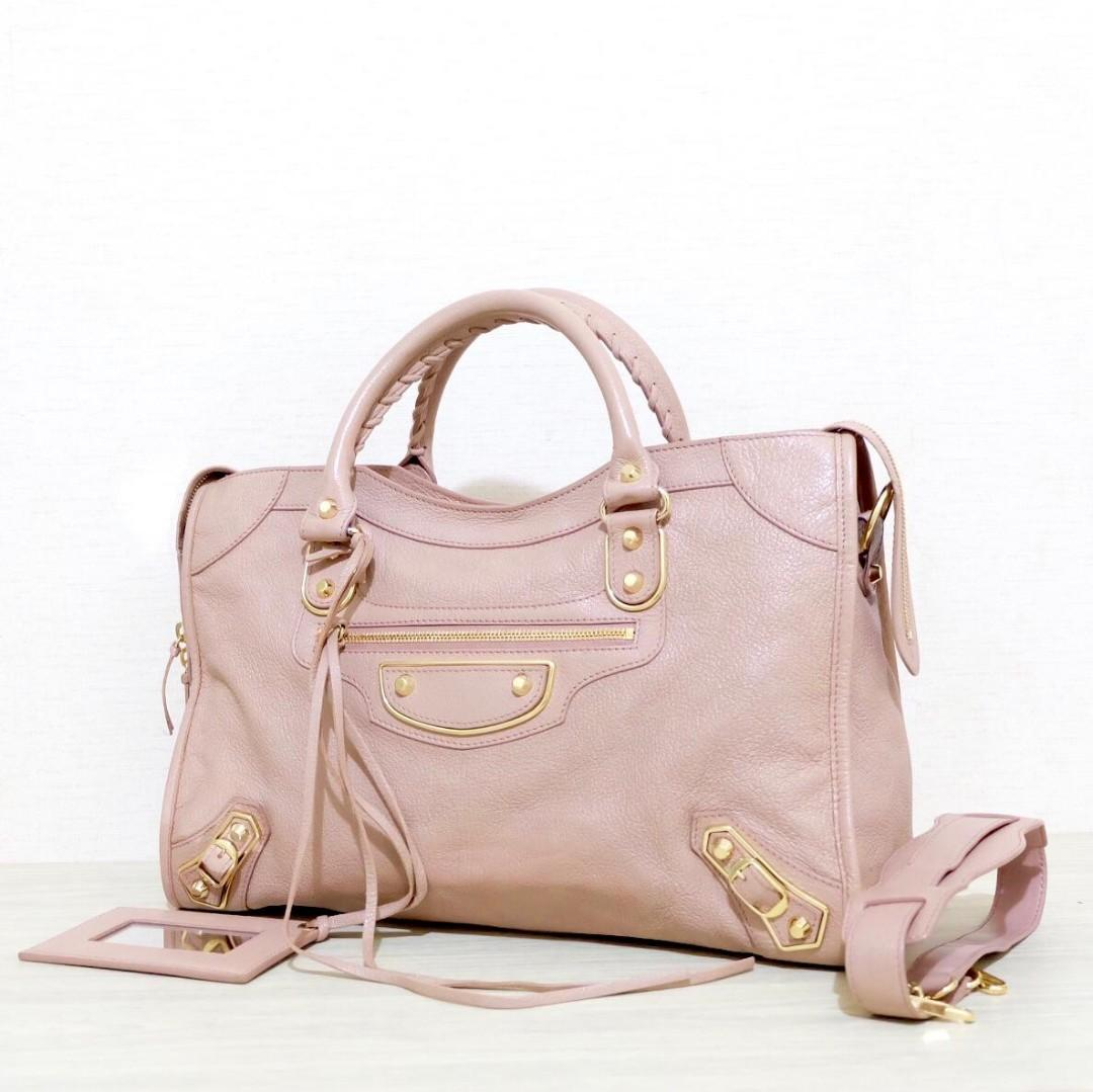 #mauthr *REPRICE* Preloved Balenciaga City Reguler in Rose Des Sables GHW 2016 Comes with: dustbag, strap (short strap), mirror, year card, mirror, sample leather, care card, controllo