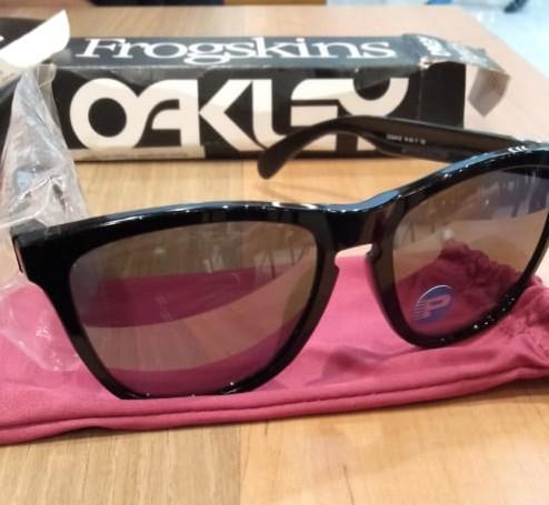 New Oakley Frogskins Polished Black Original