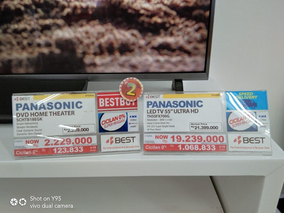"""Panasonic LED TV 4K 55"""" UHD Smart promo cashback cicilan tanpa CC"""