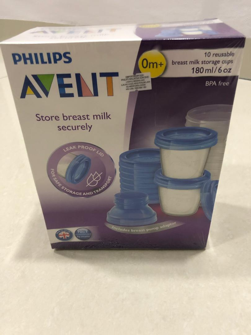 Philips Avent Breastmilk Storage Cups (10nos)
