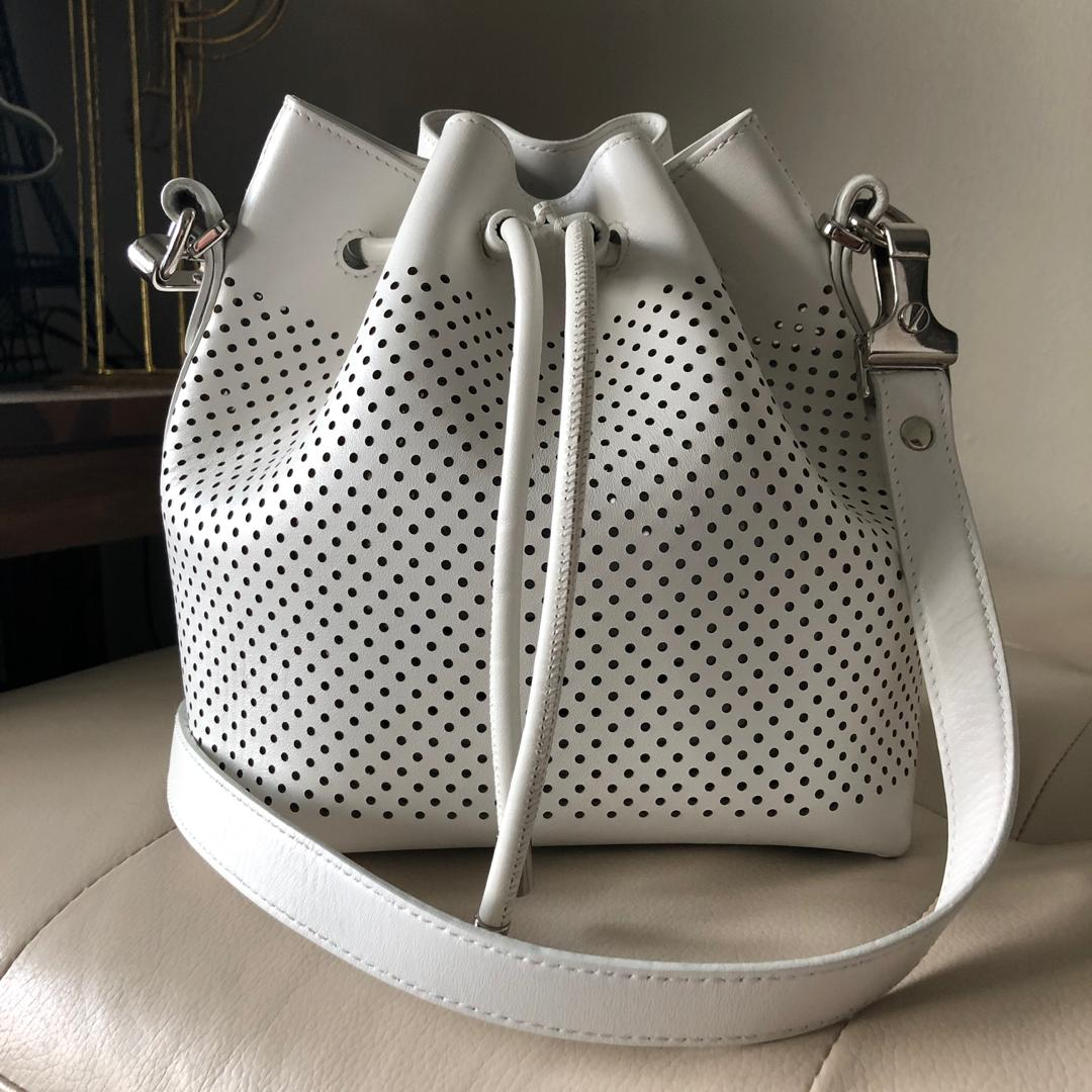 Proenza Schouler Small Perforated Leather Bucket Bag