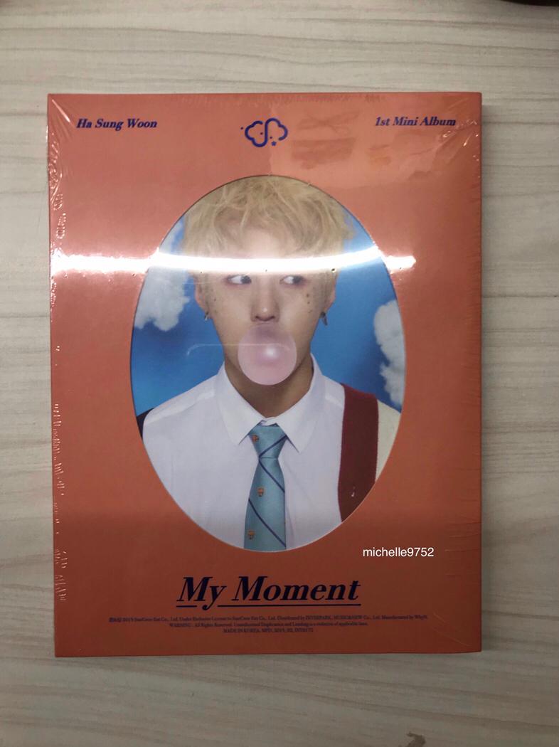 [SEALED MURAH] Ha Sungwoon My Moment Mini Album Dream Ver. + POSTER