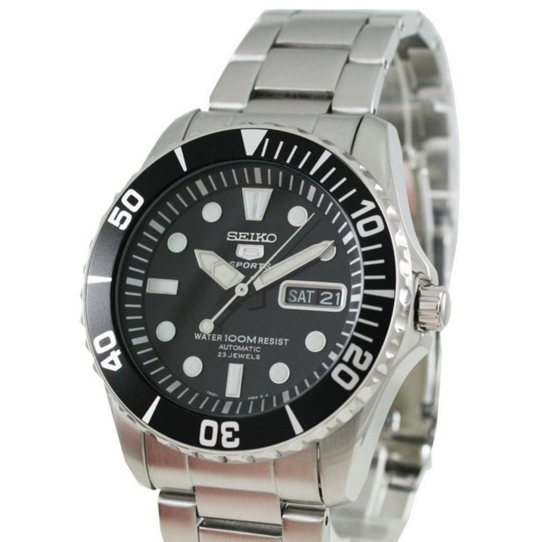 2303b9843 SEIKO 5 SPORTS CLASSIC SEA URCHIN SUBMARINER AUTOMATIC MENS STAINLESS STEEL  WATCH , Men's Fashion, Watches on Carousell