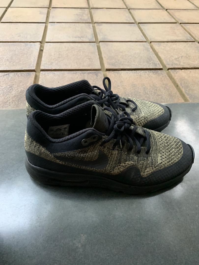 best website 32b7b 2a7a7 Sepatu Nike Airmax ORIGINAL FlyKnit Black/Green, Men's ...
