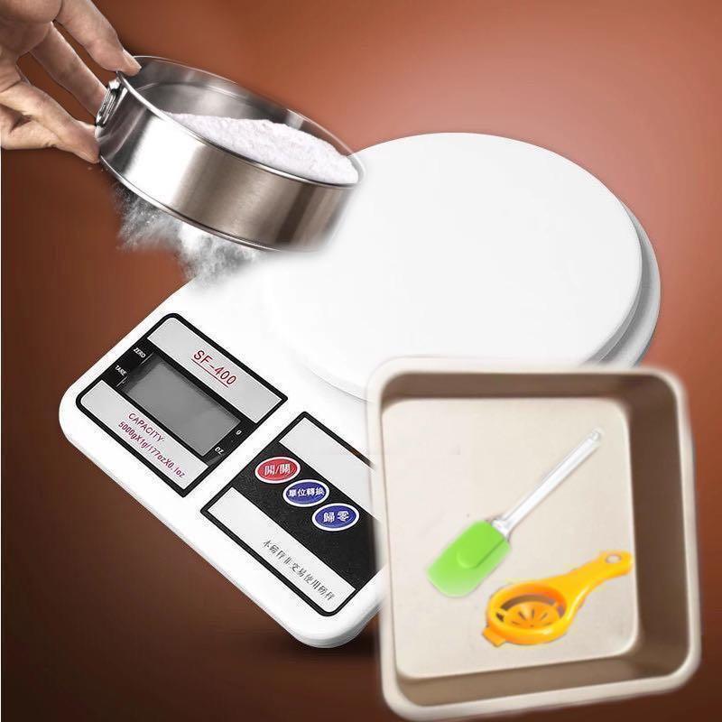 烘焙set電子磅麵粉篩焗盤蛋白分離器矽膠利刀