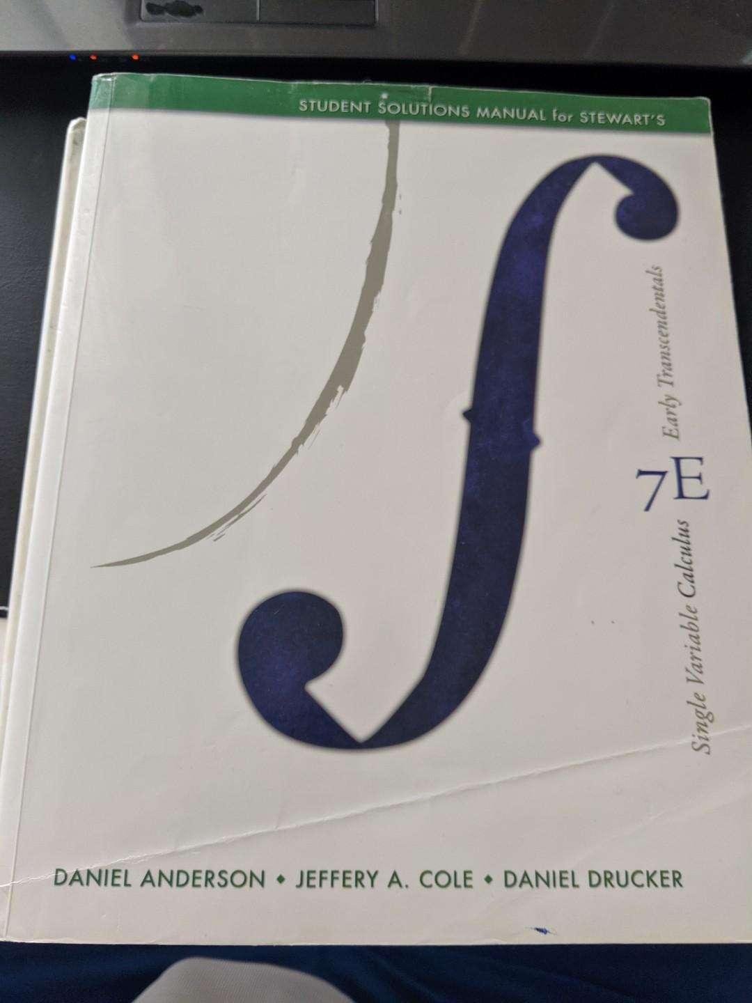 Single Variable Calculus: Early Transcendentals, James Stewart 7E+Solutions Manual