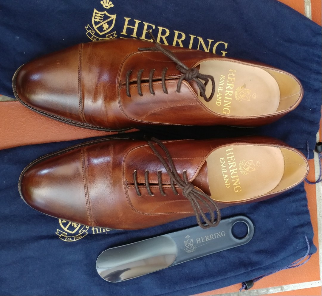 e2fb3c55f6a33 Herring Mayfair Oxford in Mahogany Calf, Men's Fashion, Footwear ...