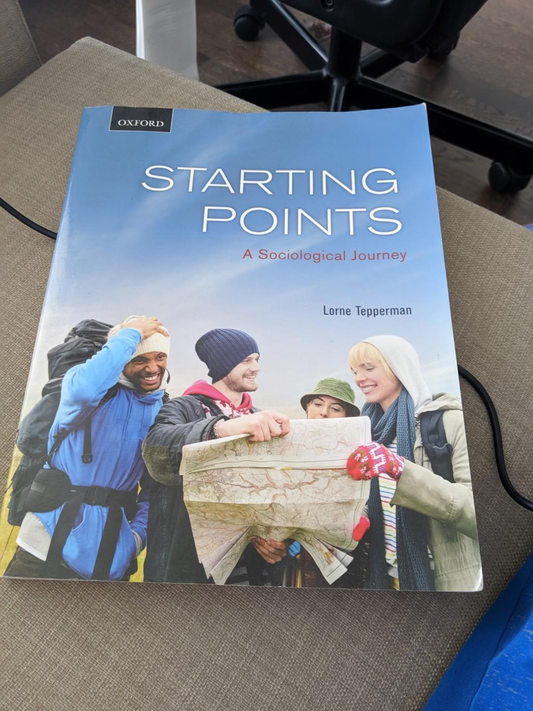 Starting Points a Sociological Journey, Lorne Tepperman