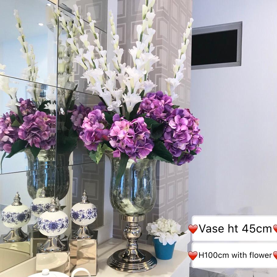 Tall Vase With Artificial Flower Arrangement Furniture Home Decor Others On Carousell