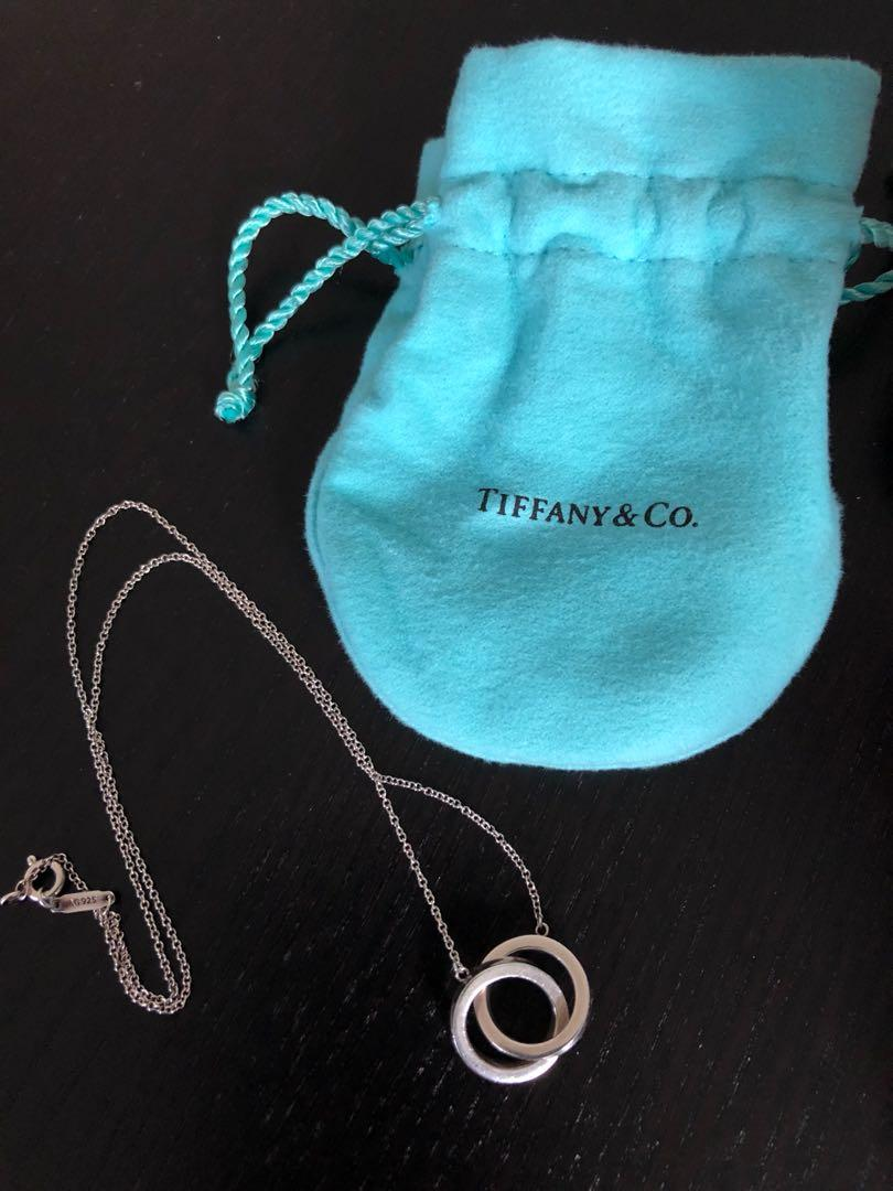 Tiffany Interlocking Circle Pendant Necklace ( Authentic)