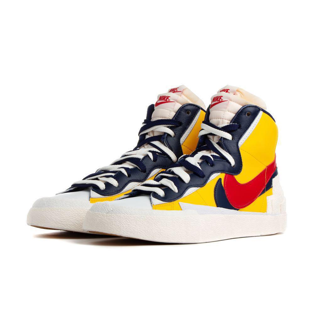 Bombardeo Pompeya mil  US 11 UK 10 Nike Sacai Blazer Yellow Maize Red, Men's Fashion, Footwear,  Sneakers on Carousell