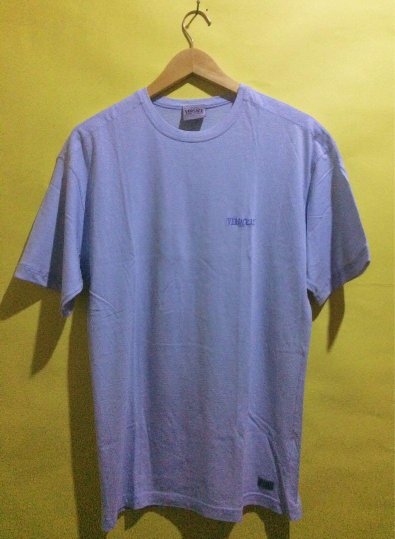 Vintage VERSACE Embroidery Logo blue