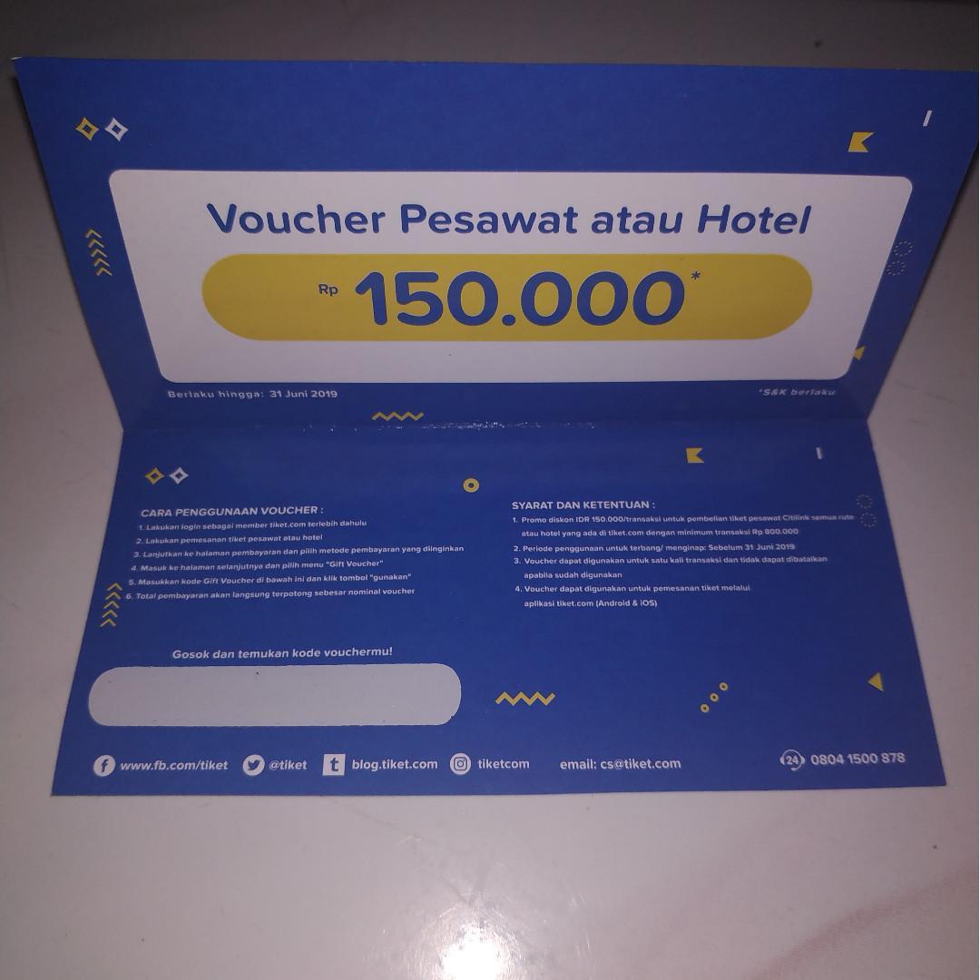 Voucher Diskon Tiket Pesawat Hotel Dijamiin Muraaahh Tiket Voucher Tiket Acara Di Carousell