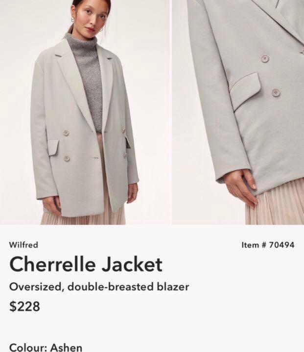 Wilfred Cherrelle Jacket (Double Breasted Blazer) - Ashen/Grey