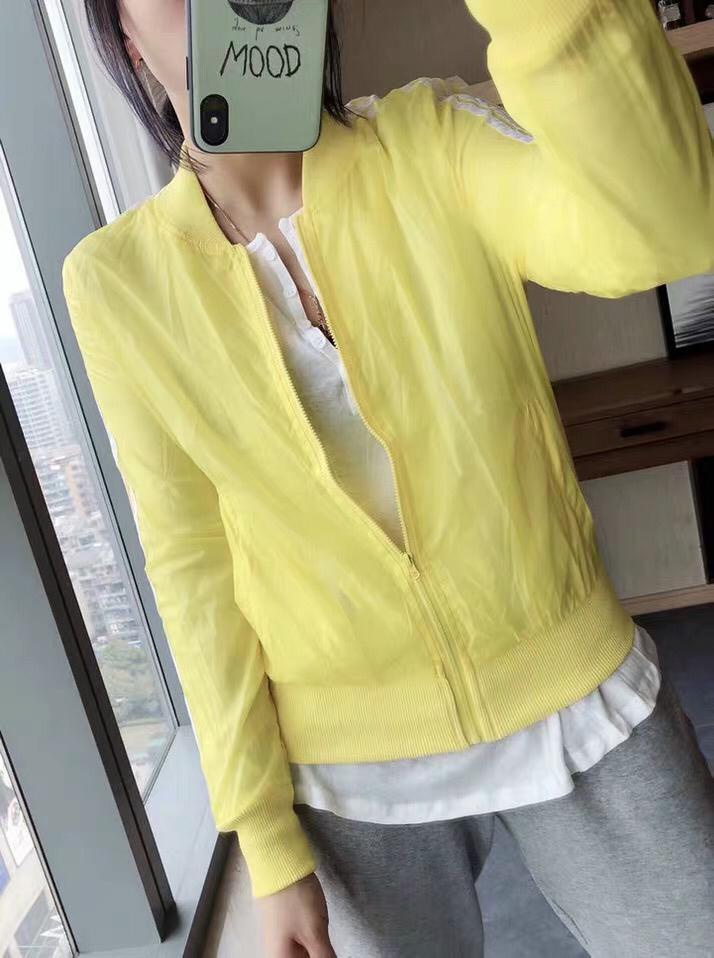 Yellow thin jacket