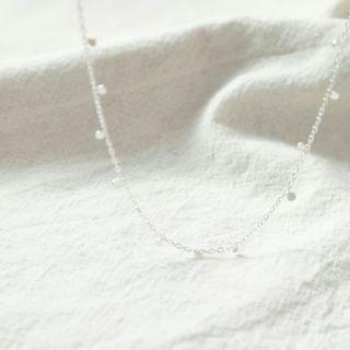 925純銀簡約垂吊小圓點頸鏈