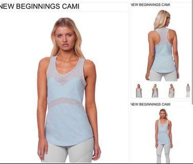 L'urv Sports/Gym/Yoga Light Blue Tank Top with Mesh (New Beginnings Cami)