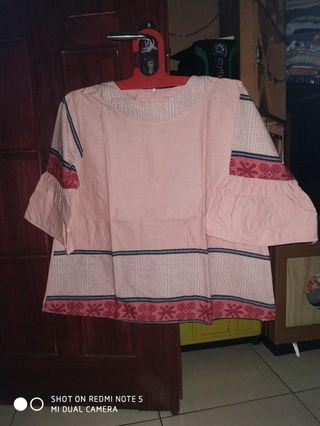 #mauthr blose motif batik