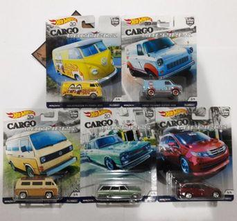HOT WHEELS 50th Cargo Carriers Series FULL SET FREE PROTECTOR