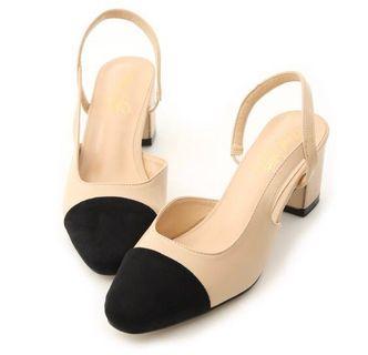 🚚 轉賣 D+AF 完美經典 小香風微方頭後中跟鞋