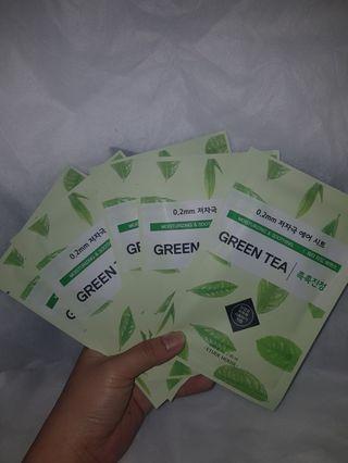 Masker Korea - Etude House GREEN TEA