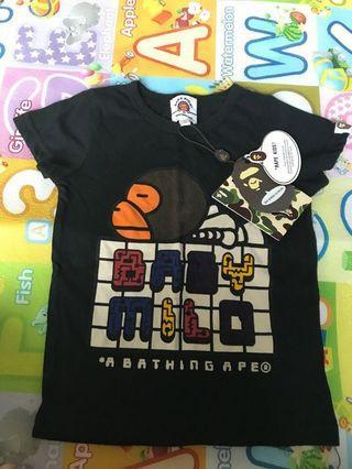 全新BAPE Kids 小童90碼短袖衫