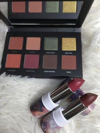 Rise Of The DUCk Eyeshadow Palette - Ember + 2 lipstick (madame& perfection)