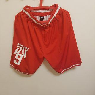🚚 DA VILLAGE 台灣運動品牌DV 紅色籃球褲 L