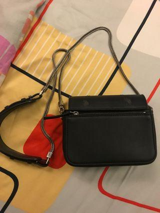 Charles and Keith crossbody chain leather