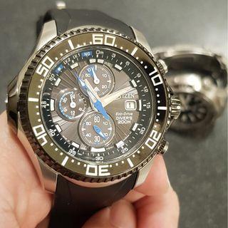 CITIZEN 星辰 PROMASTER MARINE 計時 ISO認證 200M專業潛水錶