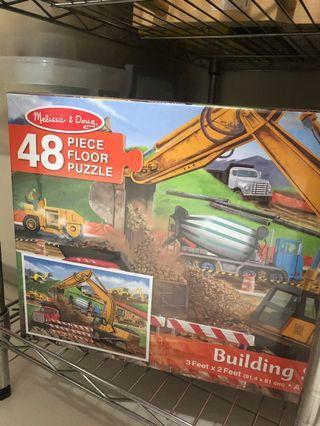 🚚 Melissa & Doug Building site floor puzzles