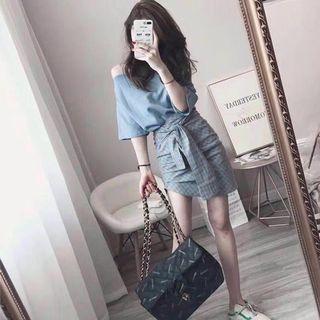 Blue Korean set wear