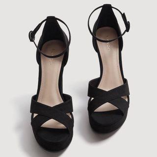 MANGO Strap Platform Sandals Heels