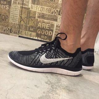 二手 Nike flyknit 4.0 跑步鞋 黑 25cm