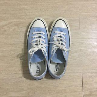 近全新 converse 1970 帆布鞋 天藍 24cm