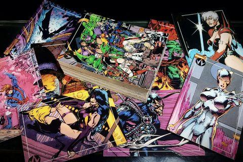 Jim Lee's WILD C.A.T.S Trading Cards (1993, Topps) [87 Card Lot] WildCATS Image not Marvel DC