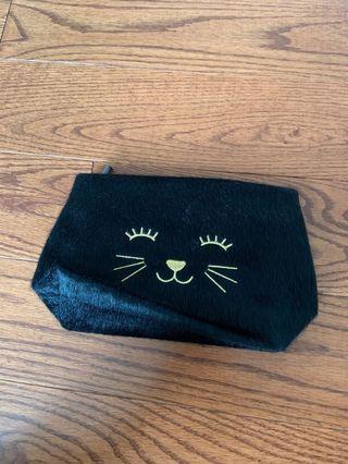 Brand new black kitty cosmetics pouch.  Super cute!