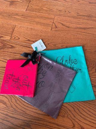 Set of 3 brand new cosmetics bags