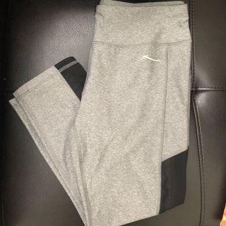 Grey mesh leggings