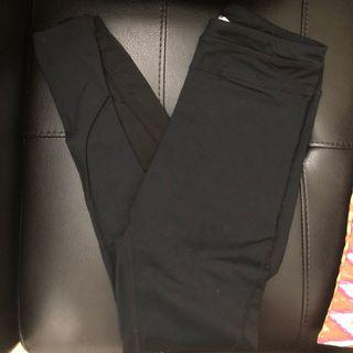 Garage black mesh leggings