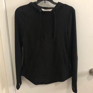 Mesh black hoodie