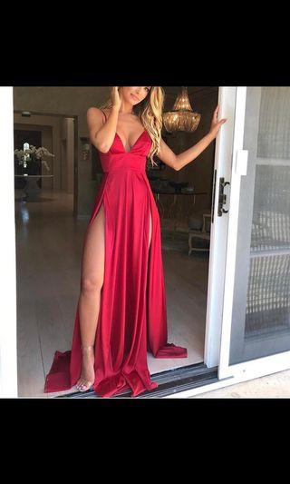 Abyss by Abby red satin dress