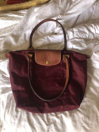 Cranberry Mini Longchamp Bag
