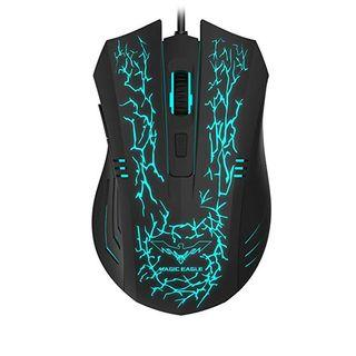Havit Gaming Mouse RGB Wired,6 Adjustable USB Ergonomic Computer Mice with 6 Buttons for Laptop PC Gaming (Breathing) - 0030